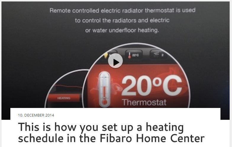 This is how you set up a heating schedule in the Fibaro Home Center