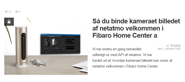 netatmo welcome – read the presence-status with the Fibaro HomeCenter 2