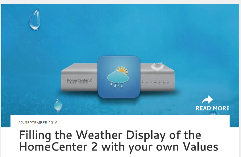 Filling the Weather Display of the HomeCenter 2 with your own Values
