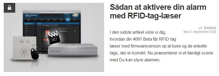 Sådan at aktivere din alarm med RFID-tag-læser