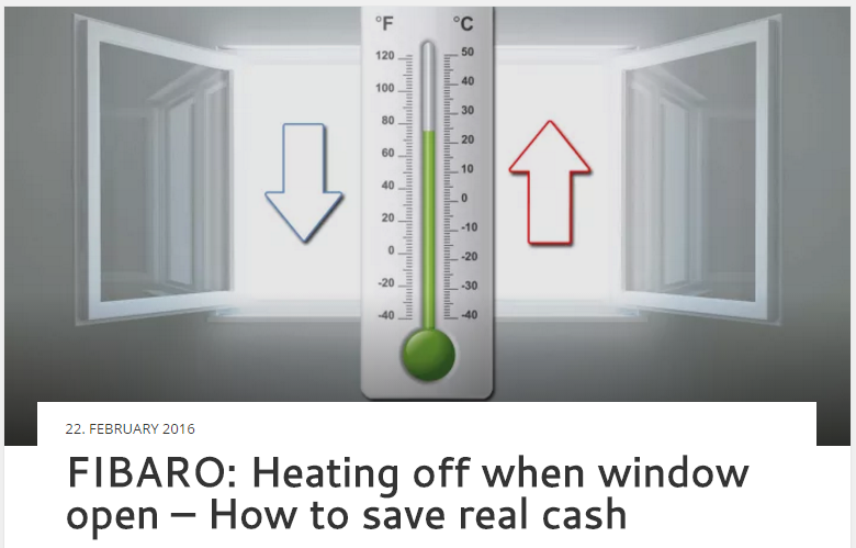 FIBARO: Heating off when window open – How to save real cash