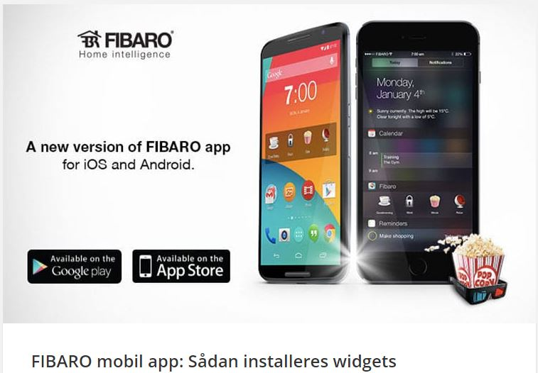 FIBARO mobile app How to install the widgets