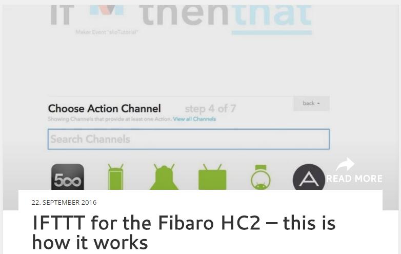 IFFTT Fibaro