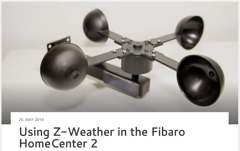 Using Z-Weather in the Fibaro HomeCenter 2