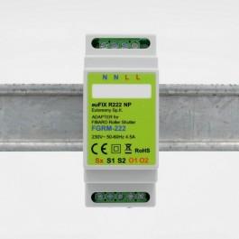 euFIX R222NP DIN-adapter til Fibaro Gardin/Persienne relæindsats Version 2 FGR-222