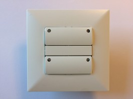 Adapter set for european standard wall boxes allow you to use Danish Fuga material (1-Modul)