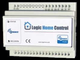 Z-Wave Plus -  Dansk Z-Wave DIN-skinne modul til f.eks. Gulvarme styring  LHC5020