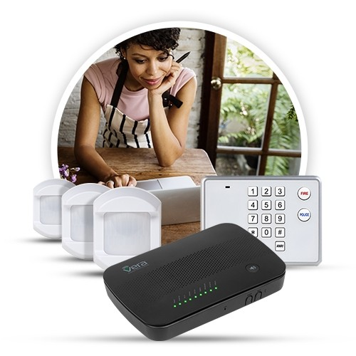 Vera Secure + 3x Motion Detector 433MHz + Keypad 433MHz