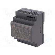 Din-Skinne strømforsyning 24VDC; 24÷25.5VDC; 3.83A; 92W