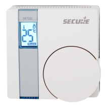 Secure Wall Thermostat med LCD display og indbygget Relæ SECESRT323