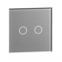 702-64 sølv LIVOLO  dobbelt TOUCH glas panel