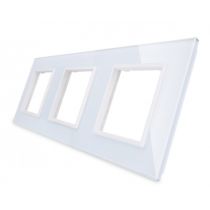GPF-3-61 Triple hvid glass front til LIVOLO stikkontakt