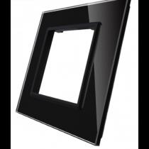 GPF-1-62 Enkelt sort glass front til LIVOLO stikkontakt