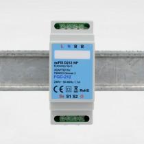 euFIX D212NP DIN-adapter til Fibaro Dimmer 2 FGD-212