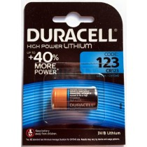 Duracell Ultra Long Lasting Power CR123A Lithium specialbatteri - 3V