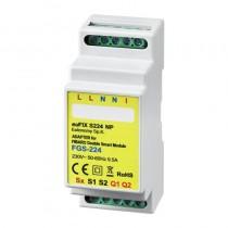 EUFIXS224NP DIN-adapter til FIBARO Double Smart Module FGS-224 Eller FGS-222  ( Med potentialfri udgange )