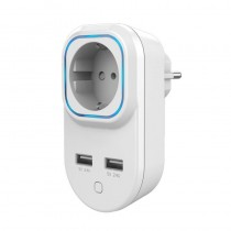 Z-Wave - Plus HANK  out-wall socket with 2 USB ports HKZW-SO05
