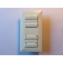Adapter set for european standard wall boxes allow you to use Danish Fuga material (2-Modul)