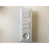Adapter set for european standard wall boxes allow you to use Danish Fuga material (3-Modul)