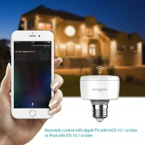 Apple HomeKit - WIFI Koogeek Smart Socket lyspære E27 Adapter