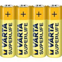VARTA BATTERI SUPERLIFE AA 1,5V foliepakket 4 stk