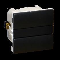 Z-Wave Plus -  Dansk Z-wave Fuga Betjeningstryk med relæ udgang, koksgrå uden lysdioder. ZHC5010-DG