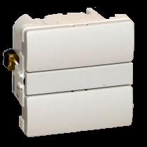 Z-Wave Plus -  Dansk Z-wave Fuga Betjeningstryk med relæ udgang, lysegrå uden lysdioder. ZHC5010-LG