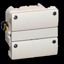 Z-Wave Plus -  Dansk Z-wave Fuga Betjeningstryk med relæ udgang, lysegrå med 4 lysdioder. ZHC5010-LG-4L