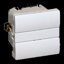 Z-Wave Plus -  Dansk Z-wave Fuga Betjeningstryk med relæ udgang, hvid uden lysdioder. ZHC5010-WH