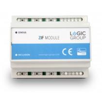 Z-Wave Plus -  Dansk Z-Wave DIN-skinne modul til styring af  f.eks. Lys eller Elvarme  LHC5028/ZIF5028 Heatit Z-DIN 616